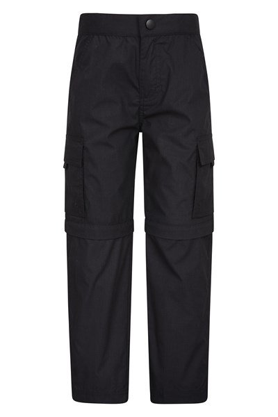 Active Kids Convertible Trousers - Black