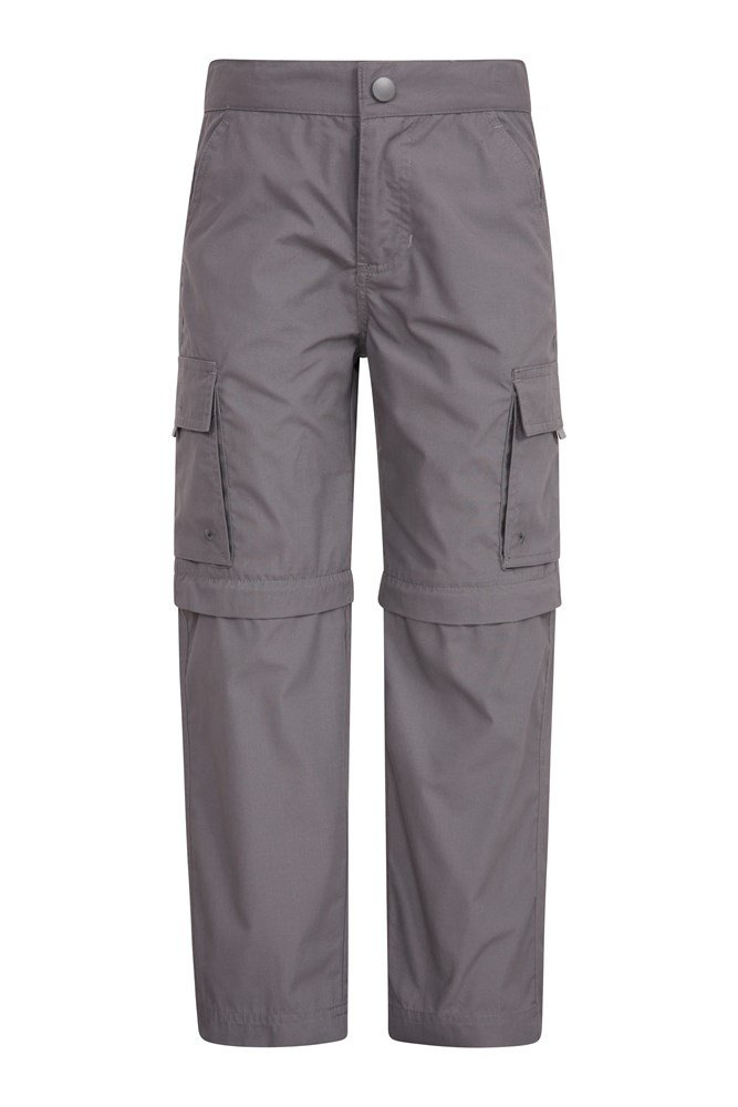 Active Kids Convertible Trousers - Grey