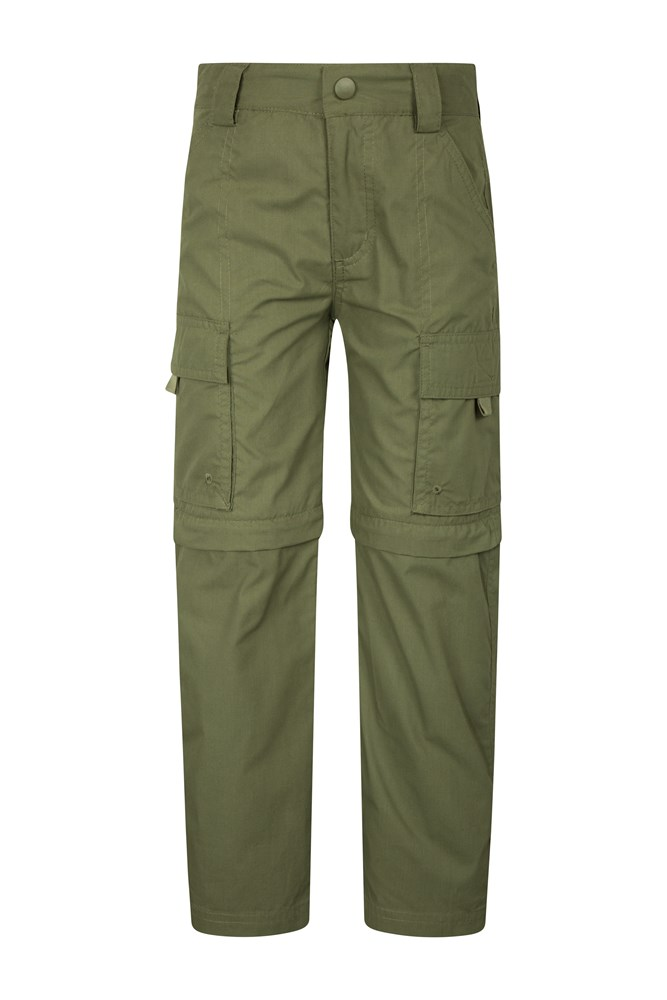 Active Kids Convertible Trousers - Green