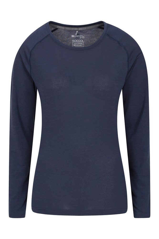 IsoCool Dynamic Damen Langarm-Shirt - Blau