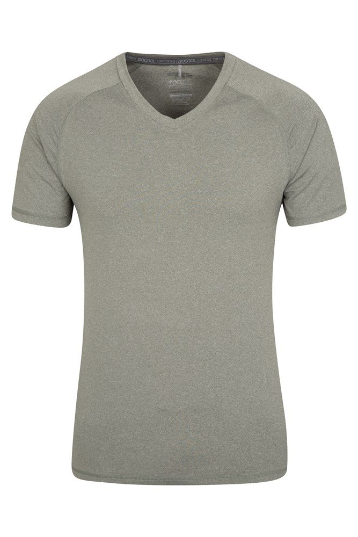 Agra Mens V Neck T-Shirt - Green