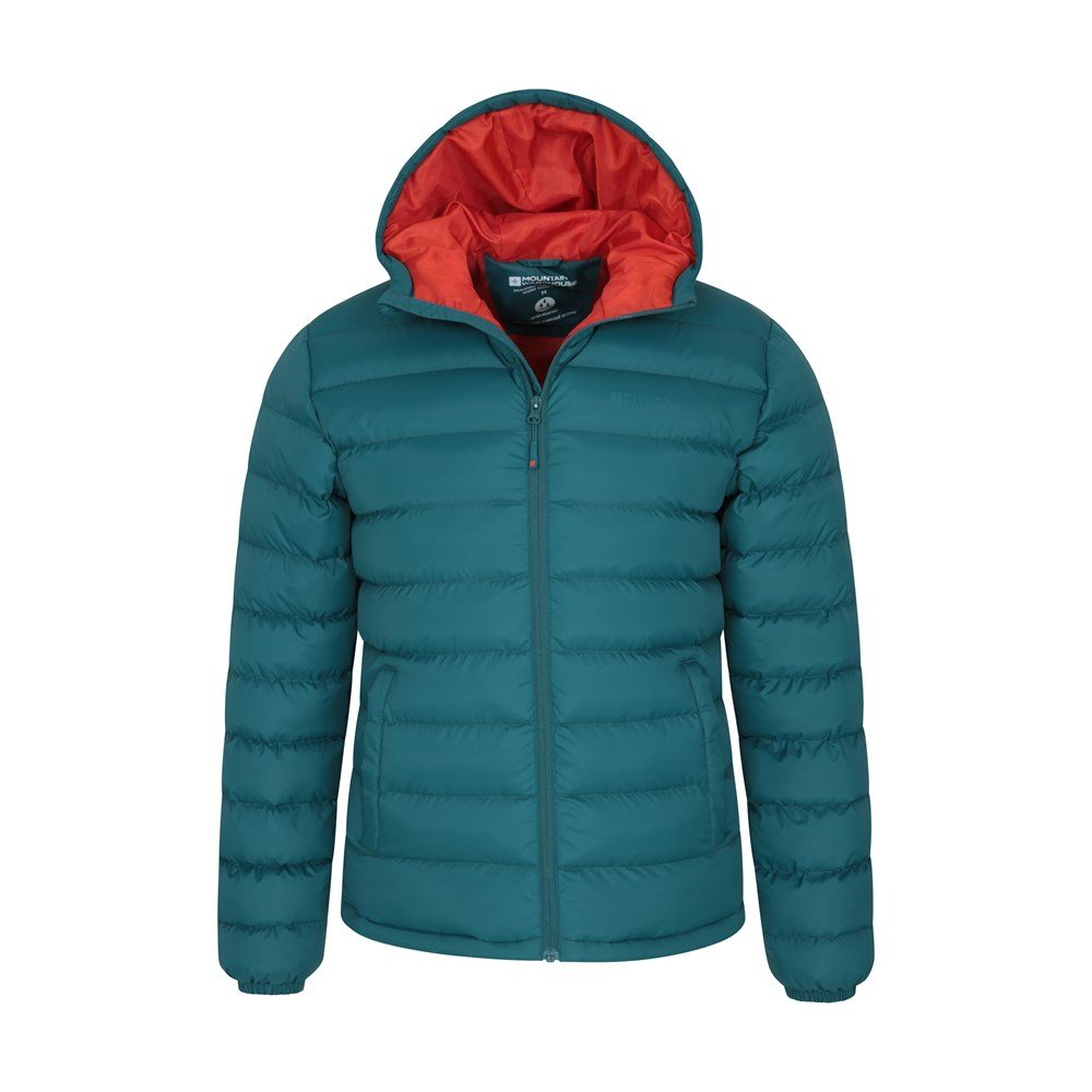 Walking Mountain Warehouse Season Mens Padded Jacket Warm for Winter Travelling Lab Tested to -30C Lightweight Water Resistant Jacket Microfibre Filler