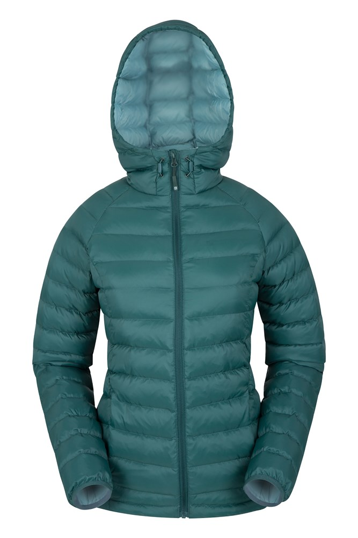Horizon Womens Hydrophobic Down Jacket - Green