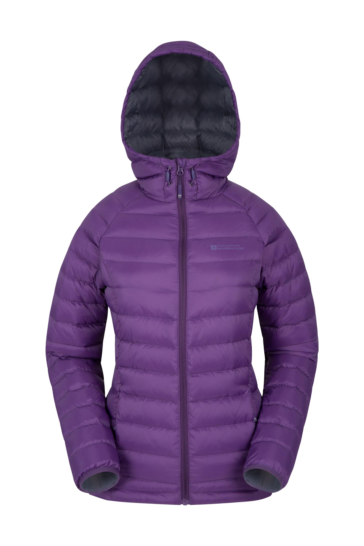 Horizon Womens Hydrophobic Down Jacket - Purple