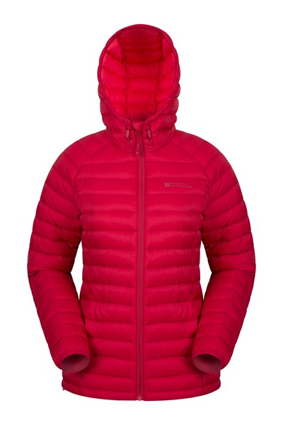 Horizon Womens Down Jacket - Red