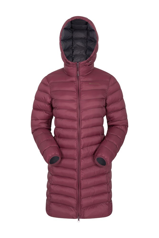Florence Womens Long Padded Jacket - Pink