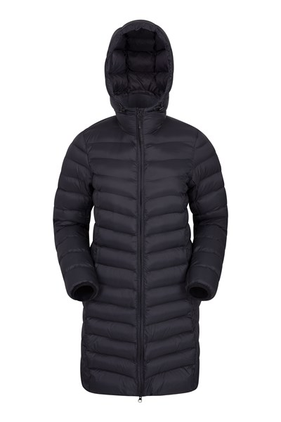 Florence Womens Long Padded Jacket - Black