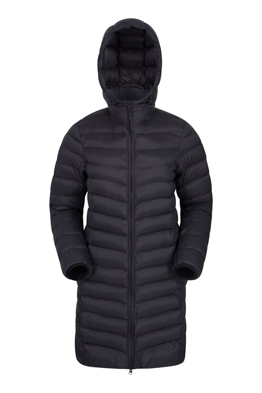 Florence Womens Long Padded Jacket - Black