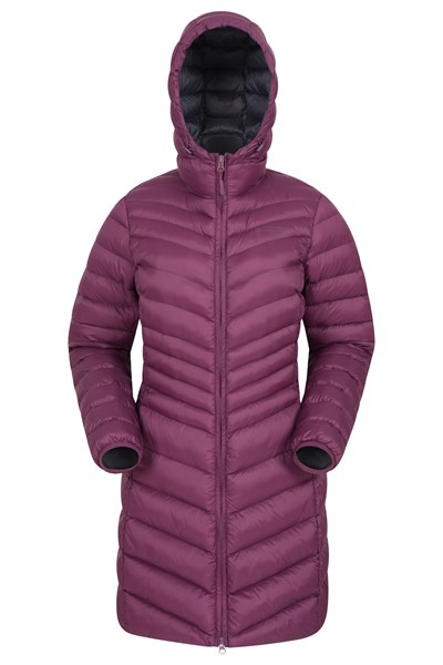 Florence Womens Long Padded Jacket - Purple