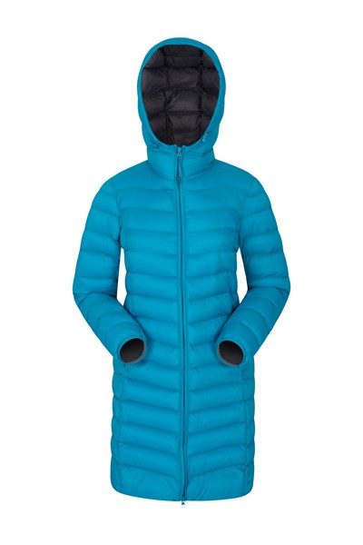 Florence Womens Long Padded Jacket - Teal