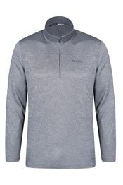 Wanderer Long Sleeve Half Zip Mens Top