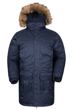 Antarctic Textured Mens Down Jacket