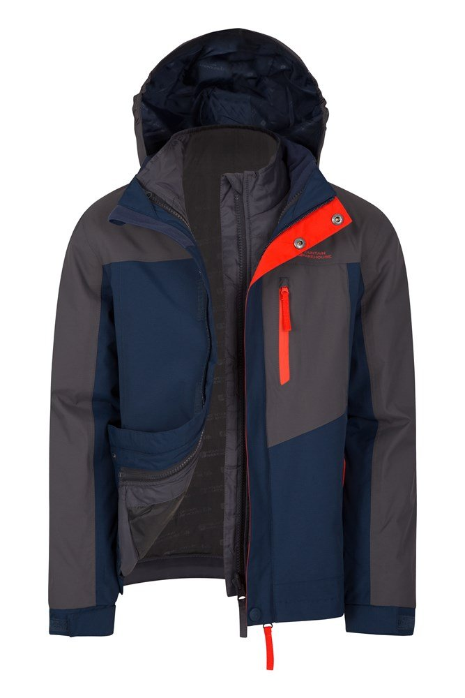 Compass Youth 3 In 1 Waterproof Jacket - Grey