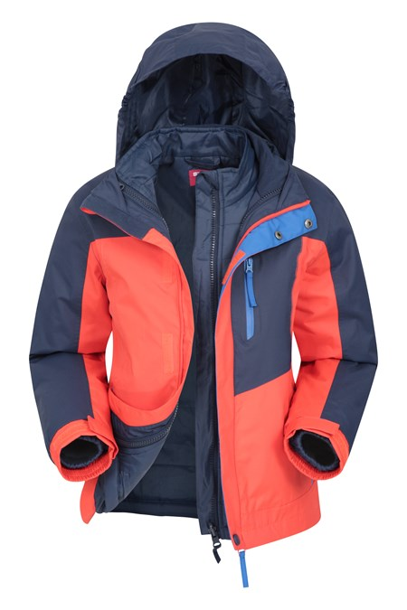 024364 COMPASS KIDS 3 IN 1 WATERPROOF JACKET