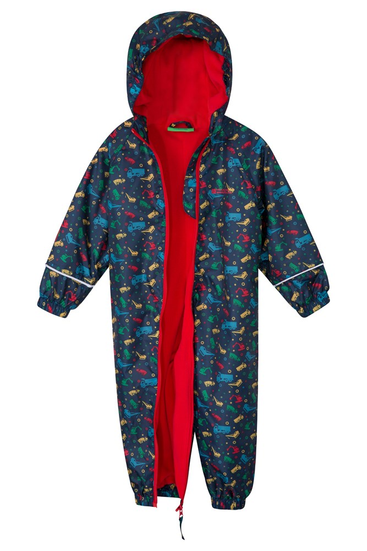 Ideal Winter Suit for Children Detachable Fleece Water Resistant Elastic Cuffs /& Leg Hems Taped Seams Mountain Warehouse Splash Junior 3 in 1 Kids Rain Suit Hood