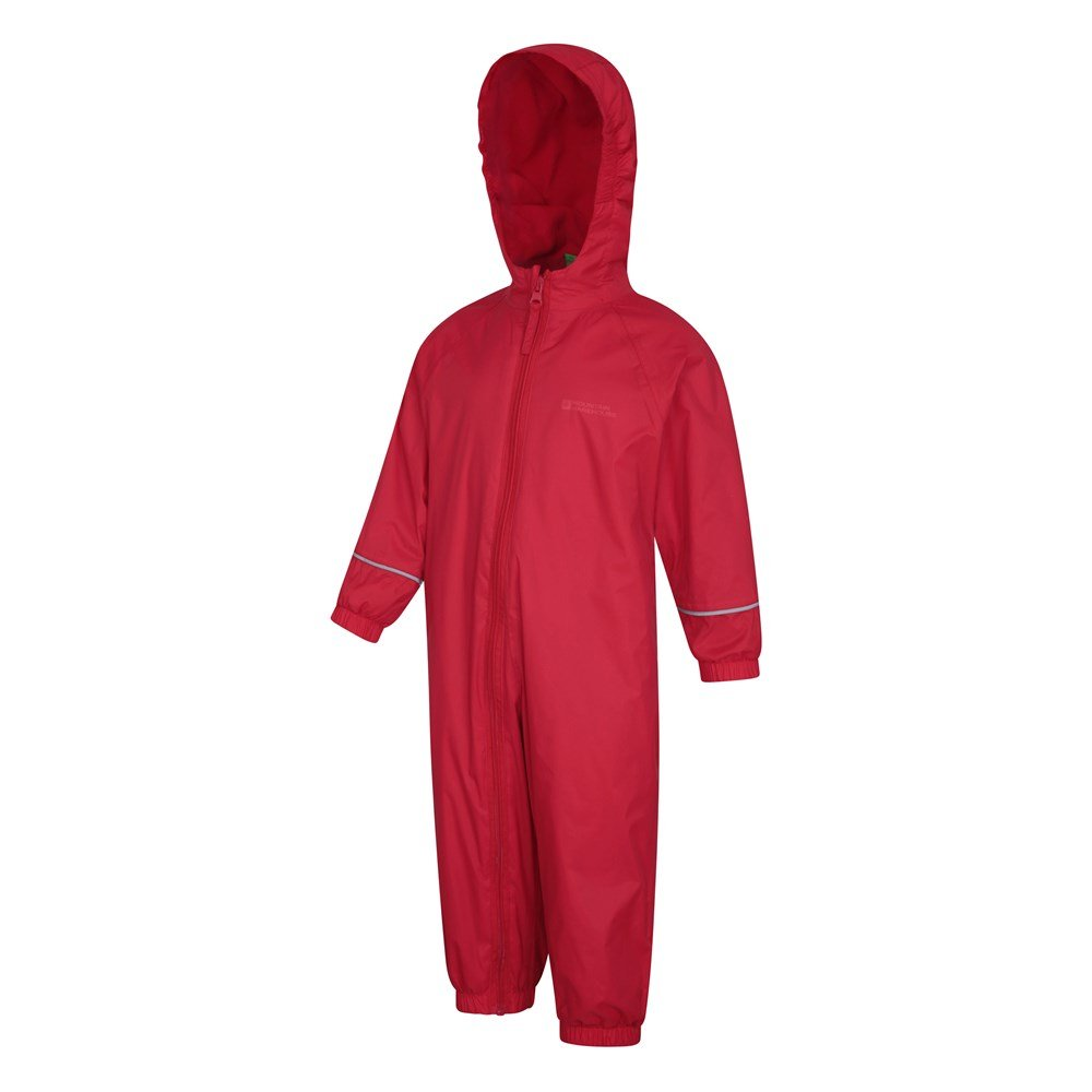 Mountain Warehouse Kids Rain Suit 100/% Polyster Taped Seams and Fleece Lined