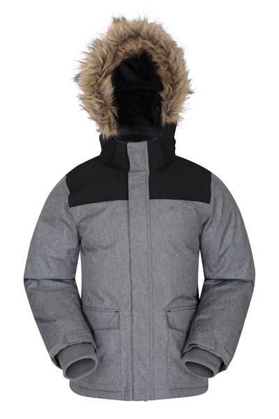Antarctic Kids Waterproof Down Padded Jacket - Grey
