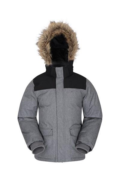Antarctic Youth Waterproof Down Padded Jacket - Grey