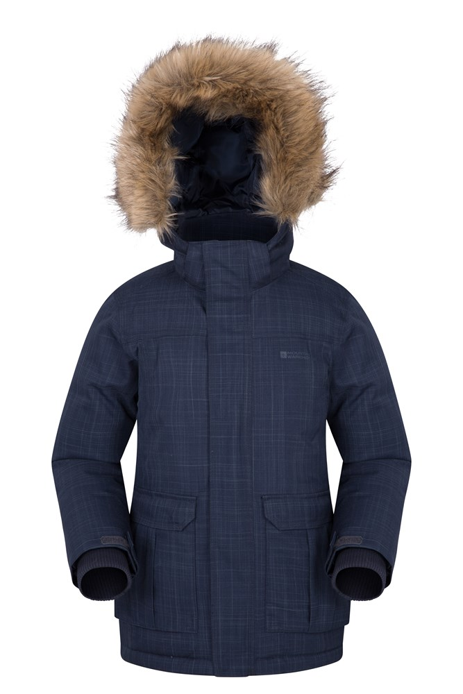 Antarctic Youth Waterproof Down Padded Jacket - Navy