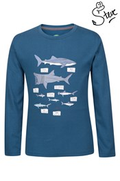 Steve Backshall Shark Inforgraphic Youth Tee