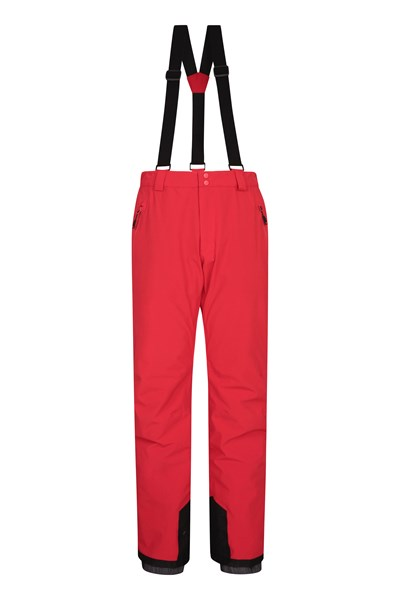 Orbit 4 Way Stretch Mens Ski Pants - Red