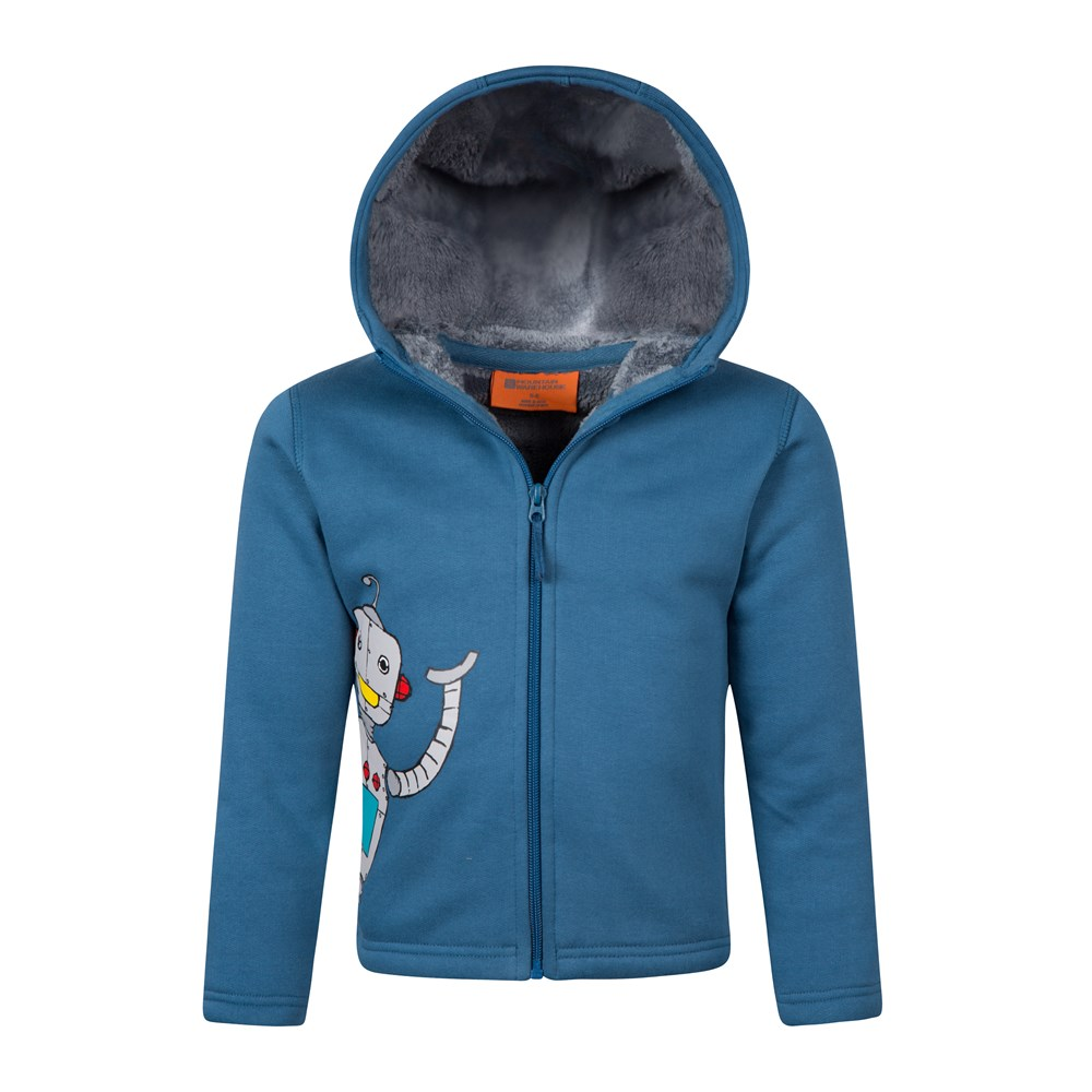 Mountain-Warehouse-Robot-Fur-Lined-Full-Zip-Youth-Hoody