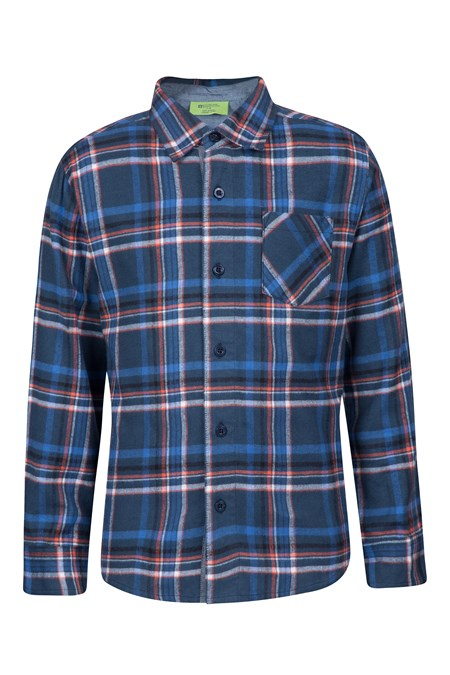 Flannel kids chambray shirt mountain warehouse ca for Chambray shirt for kids