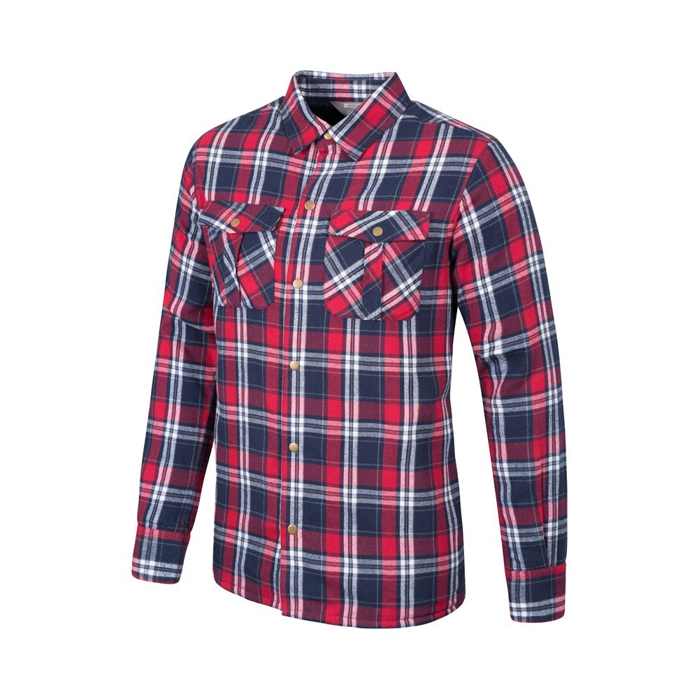 Mountain Warehouse Mens Shirt Made of 100/% Cotton /& Soft Lining for Comfort