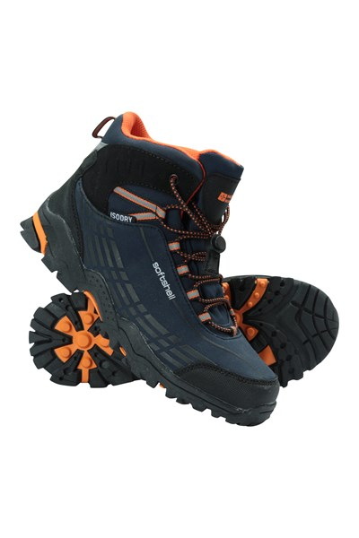 Softshell Kids Walking Boots - Dark Grey