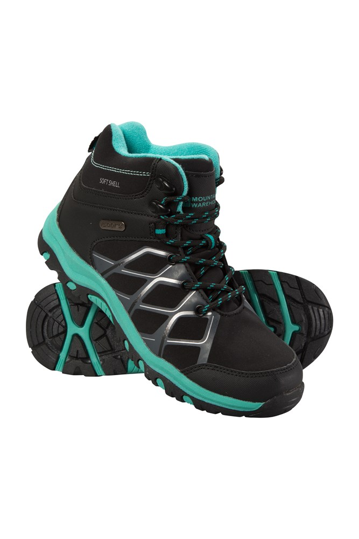 Softshell Kids Walking Boots - Teal