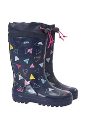 Patterned Winter Junior Wellies
