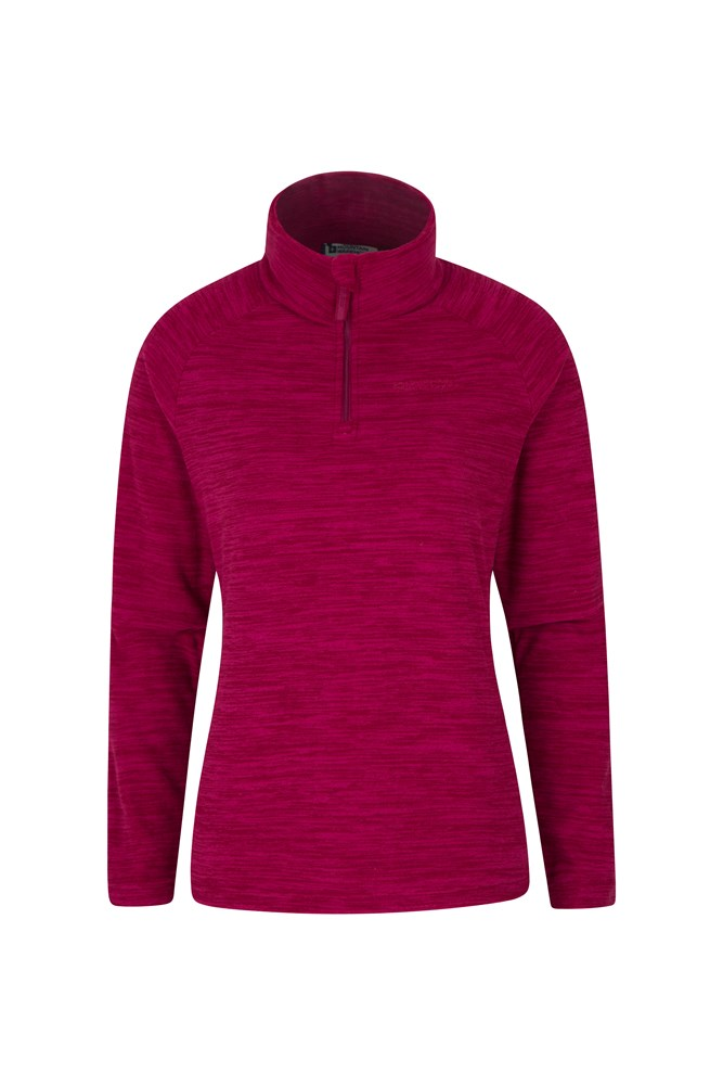 Snowdon Melange Womens Fleece - Burgundy
