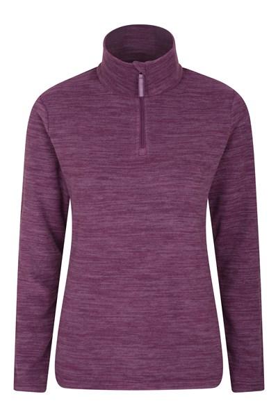 Snowdon Melange Womens Fleece - Purple