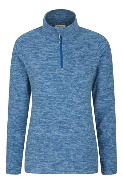 Snowdon Melange Womens Fleece - Blue