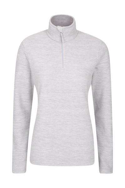 Snowdon Melange Womens Fleece - Grey