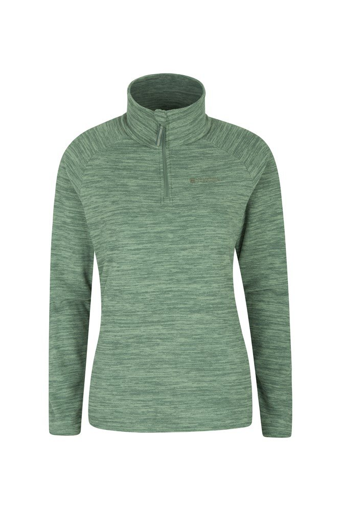 Snowdon Melange Womens Fleece - Green
