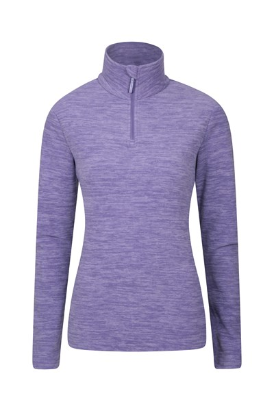 Snowdon Melange Womens Fleece - Light Purple