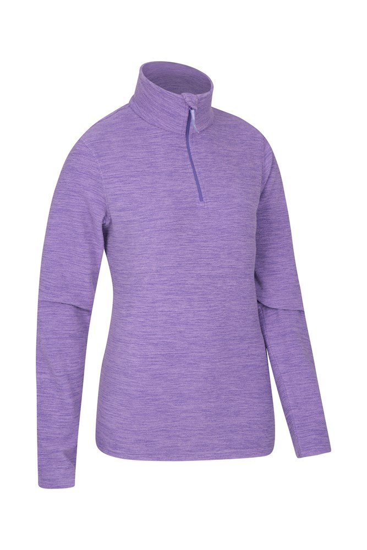 for Travelling Antibacterial High Wick Antipill Mountain Warehouse Snowdon Melange Full Zip Fleece Jacket Fast Dry Ladies Winter Sweater Breathable Womens Jacket