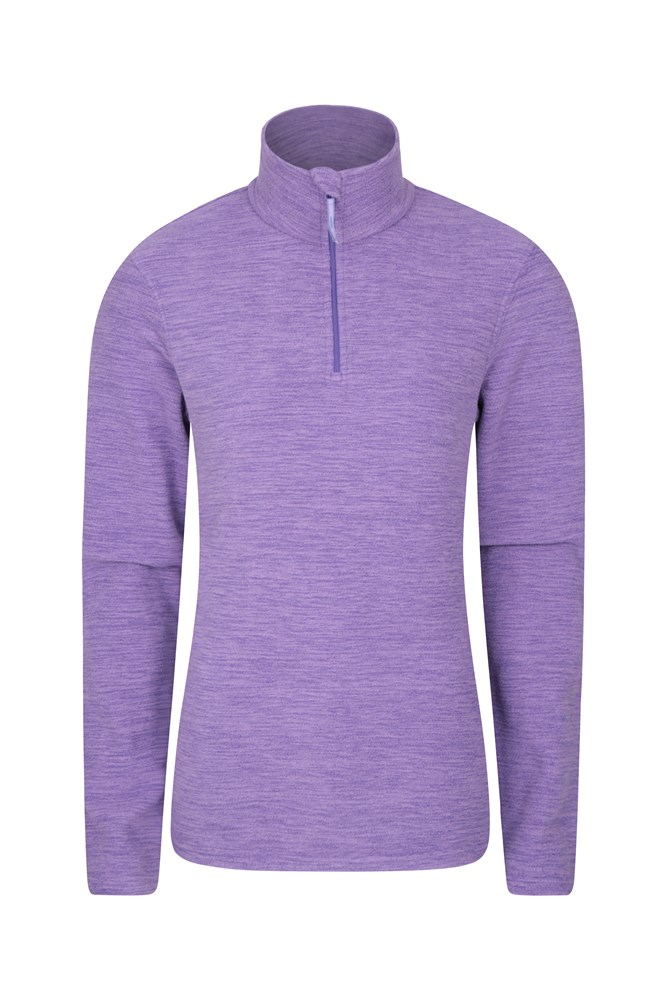 Snowdon Melange Womens Fleece - Light Purple