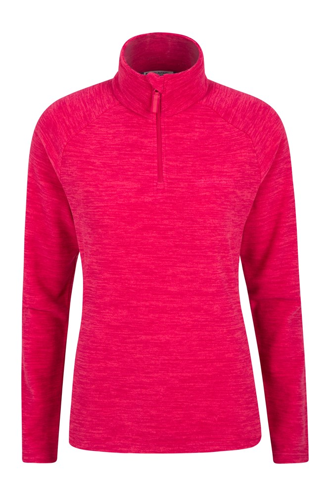 Snowdon Melange Womens Fleece - Pink