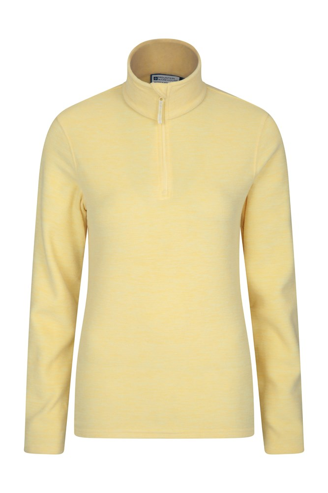 Snowdon Melange Womens Fleece - Yellow