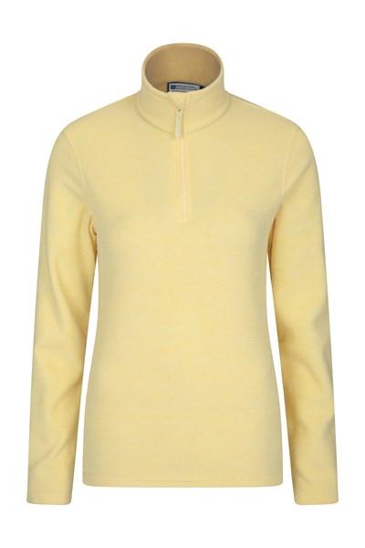 Snowdon Melange Womens Fleece - Yellow