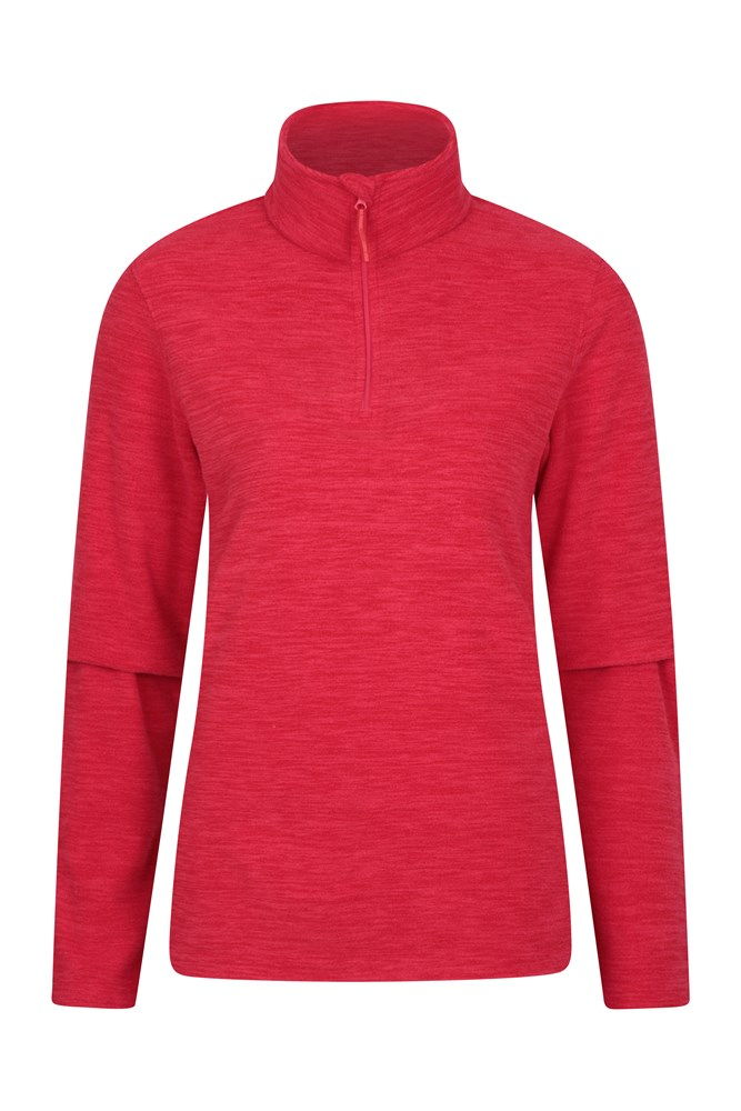 Snowdon Melange Womens Fleece - Red