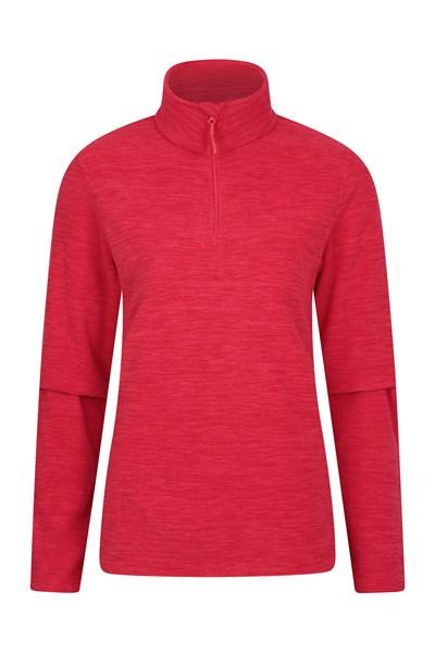 Snowdon Melange Womens Fleece - Red