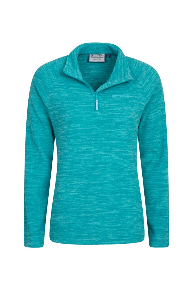 Snowdon Melange Womens Fleece - Teal
