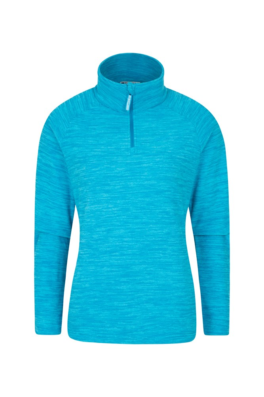 Snowdon Melange Womens Fleece - Turquoise