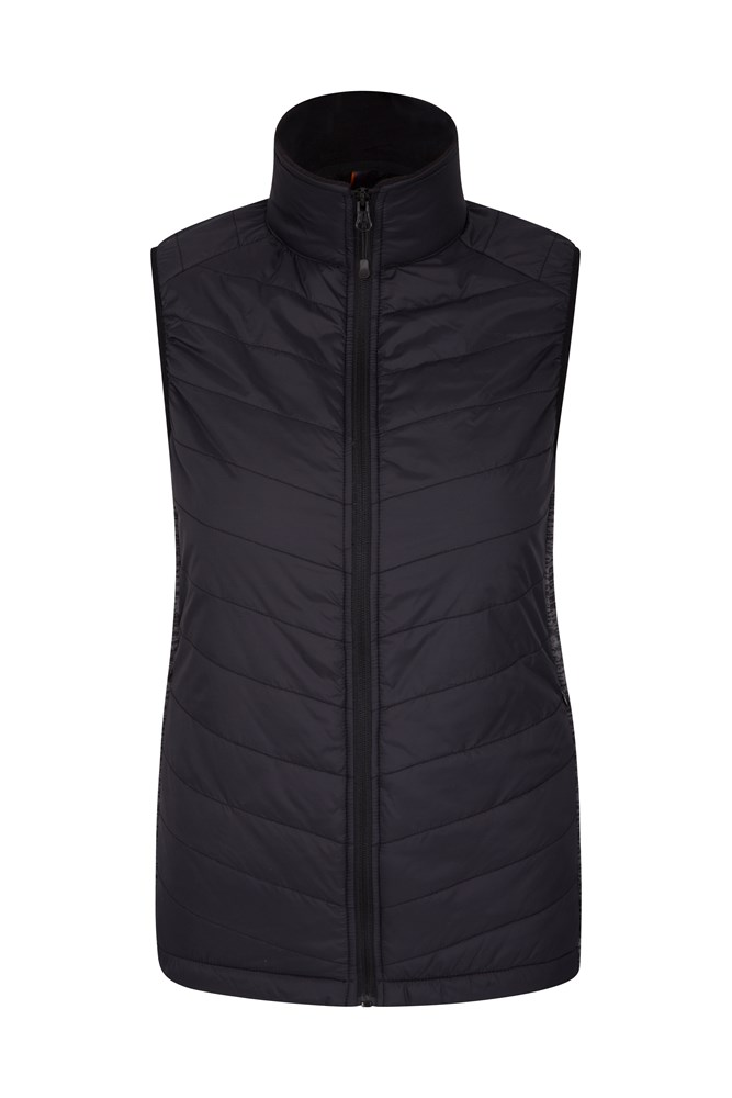 Isocool Dynamic Marble Womens Padded Gilet - Black