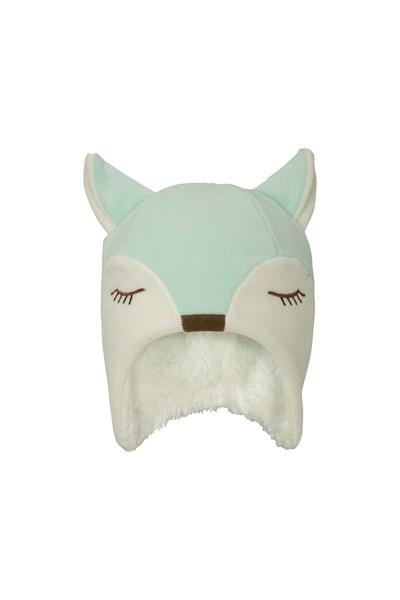 Fox Fleece Junior Hat - Green