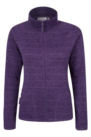 Idris Striped Womens Full Zip Fleece