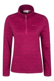 Idris Striped Womens Half Zip Fleece